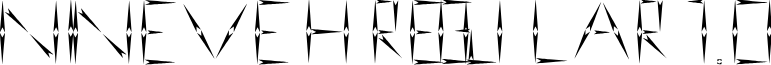 nineveh regular 1.0 font