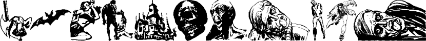Preview image for Horror Dingbats Eerie Edition Font