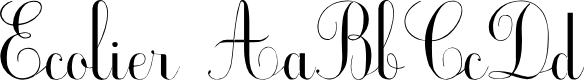 Preview image for Ecolier_court Font