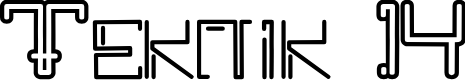 Preview image for Teknik 14 Font