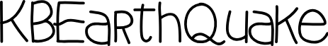 KBEarthQuake font