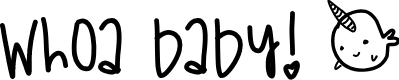 Preview image for WhoaBaby Font
