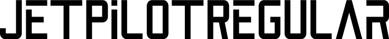 Preview image for JetPilotRegular Font
