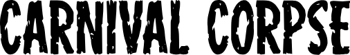 Preview image for Carnival Corpse Font
