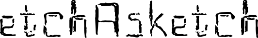 Preview image for EtchAsketch Font