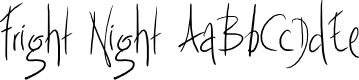Preview image for Fright Night Font