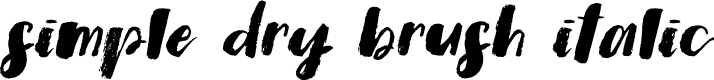 Preview image for Simple Dry Brush Italic