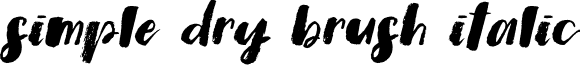 Simple Dry Brush Italic