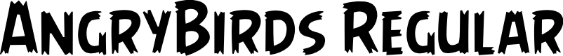 Preview image for AngryBirds Regular Font