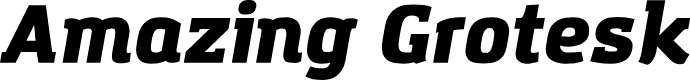 Preview image for Amazing Grotesk Ultra Italic