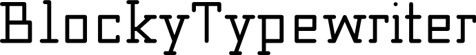 Preview image for Blocky_Typewriter Font