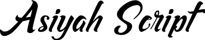 Preview image for Asiyah Script Font