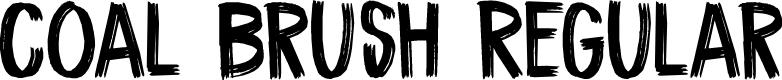 Preview image for DK Coal Brush Regular Font