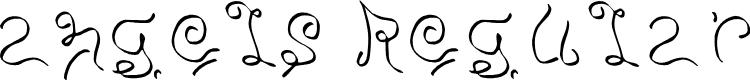 Preview image for angels Regular Font