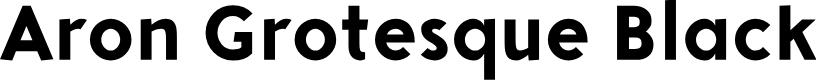 Preview image for Aron Grotesque Black Font