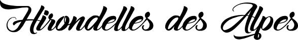Preview image for Hirondelles des Alpes Font