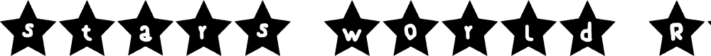 Preview image for stars world Regular Fonty Font