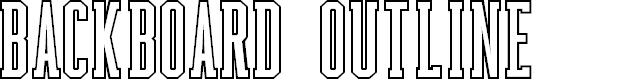 Preview image for Backboard Outline Font