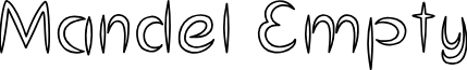 MandelEmpty font