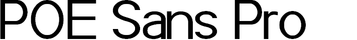 Preview image for POE Sans Pro Font
