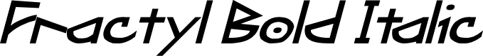 Preview image for Fractyl Bold Italic