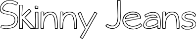 Preview image for Skinny Jeans Font