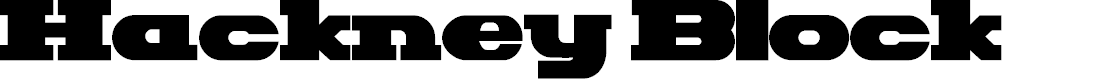 Preview image for Hackney Block Font