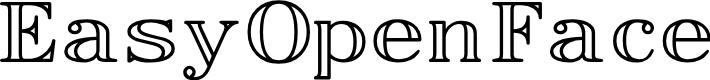 Preview image for EasyOpenFace Font