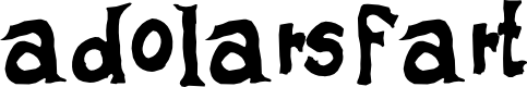 Preview image for adolars fart Font