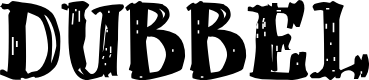 Preview image for dUBBEL Font