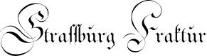 Preview image for Strassburg Fraktur Font