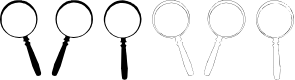 Preview image for Magnifying Glass Font