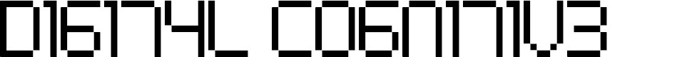 Preview image for Digital cognitive Font