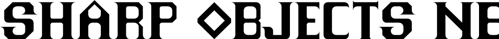 Preview image for Sharp Objects NBP Regular Font