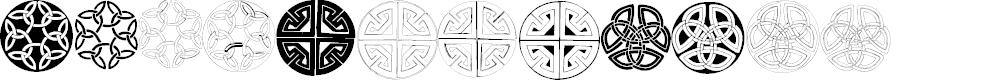 Preview image for Celtic Circledings Font
