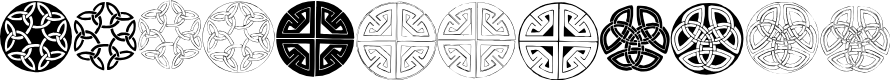 Preview image for Celtic Circledings Font