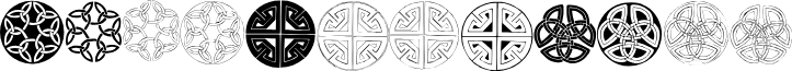 Celtic Circledings font
