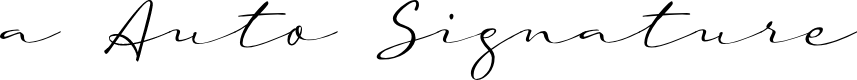 Preview image for a Auto Signature Font