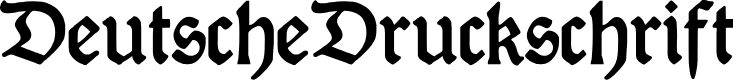 Preview image for DeutscheDruckschrift Font
