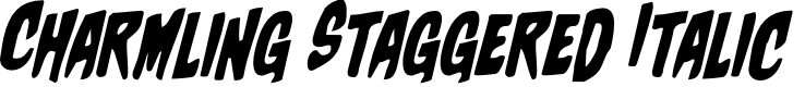 Preview image for Charmling Staggered Italic