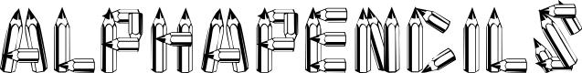 Preview image for AlphaPencils Font