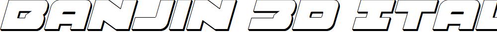 Banjin 3D Italic