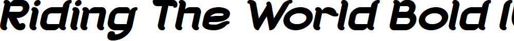 Preview image for Riding The World Bold Italic