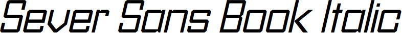 Sever Sans Book Italic