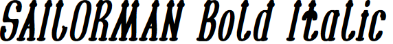 SAILORMAN Bold Italic
