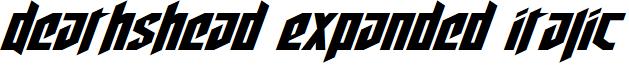 Deathshead Expanded Italic