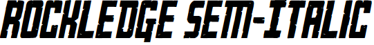 Rockledge Sem-Italic