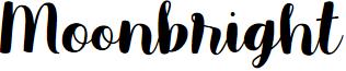 Moonbright Demo font