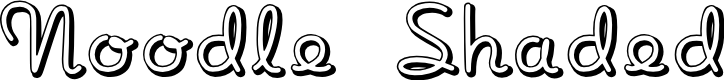 Preview image for NoodleShaded Font