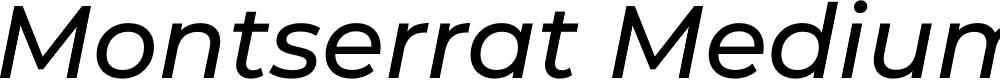 Preview image for Montserrat Medium Italic